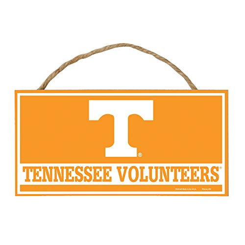 (Wincraft NCAA Tennessee Volunteers Hardboard Wood Signs with Rope, 5 x 10-Inch, Multi)