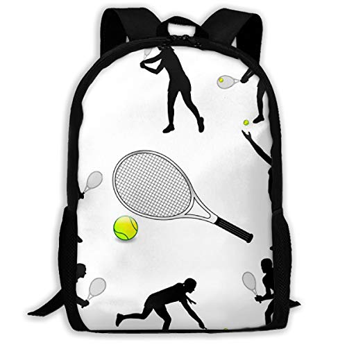 SARA NELL School Backpack,Tennis Player School Bag Student Stylish Unisex Canvas Backpack Book Bag Rucksack Daypack For Teen Kids (Best Male Tennis Players Of All Time)
