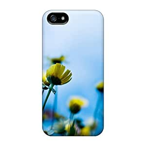 Slim Fit Tpu Protector Shock Absorbent Bumper Nature Plants Yellow Flowers In Bloom Case For Iphone 5/5s