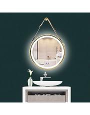 LUVODI Owalne lustro łazienkowe z oświetleniem LED, lustro ścienne