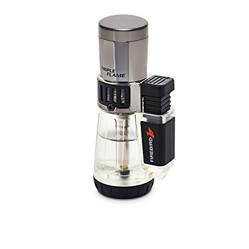Firebird by Colibri Afterburner Triple Torch Cigar and Cigarette Lighter Warranty Clear ()