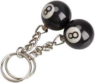 Llavero - TOOGOO(R)2 x Llavero de bola de billar Anillo de llave ...