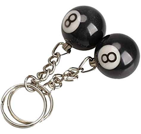 Llavero - SODIAL(R)2 x Llavero de bola de billar Anillo de llave Felicidad Numero 8: Amazon.es: Hogar