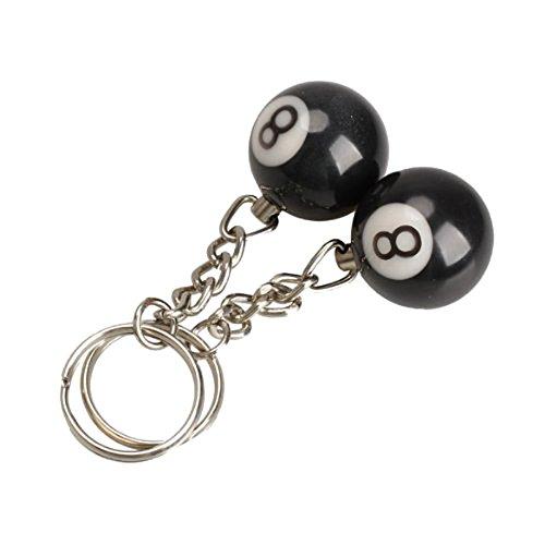 Llavero - SODIAL(R)2 x Llavero de bola de billar Anillo de llave ...