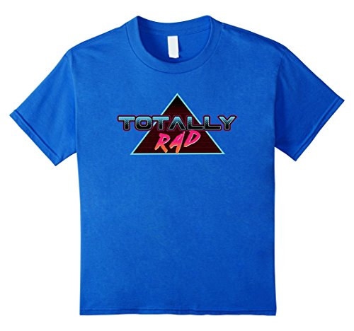 Kids Totally Rad - Stylish Cool Retro 80s Style Graphic T-Shirts 4 Royal Blue (Outfits From The 80s)