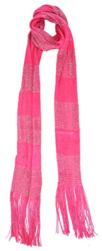 Love Lakeside-Women's Long, Skinny Scarf for Neck, Belt, Sparkle, Bow (One, Pink Stripe) ()