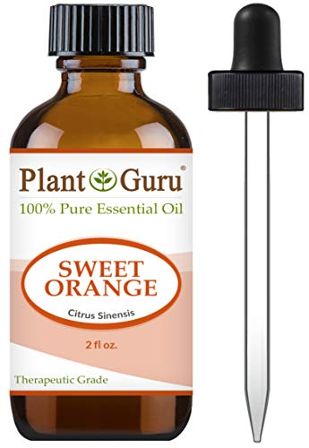 Sweet Orange Essential Oil 2 oz 100% Pure Undiluted Therapeutic Grade Citrus Sinensis, Cold Pressed from Fresh Orange Peel, Great for Aromatherapy Diffuser, Relaxation and Calming, Natural Cleaner.