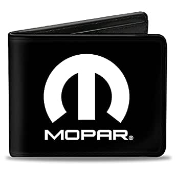 Buckle-Down Men's Wallet Mopar Logo Black/white Accessory, -Multi, One Size
