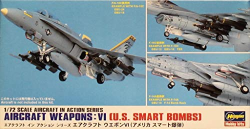 (Hasegawa 1:72 Aircraft Weapons VI US Smart Bombs Plastic Detail #35011 #X72-11)