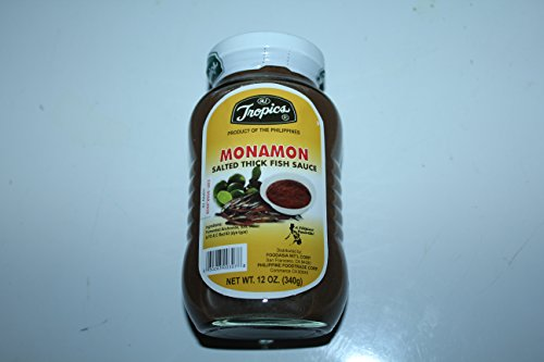 Salted Thick Fish (Bagoong Monamon) By Tropics Pack of Three 12 Oz Per Pack