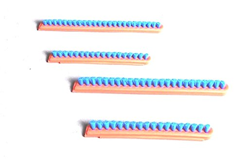 12' Brush Strips - EUREKA,SANITAIRE Upright Roller Brush Inserts VGII,12'' ORANGE/BLUE STRIP 2 SET # 52282A-4,52282-4