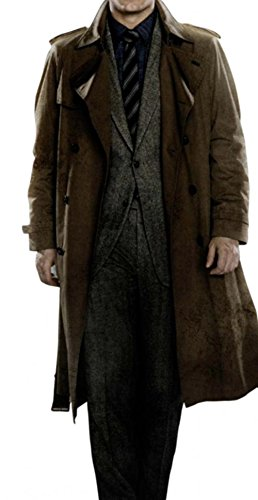 Clark Kent Halloween Costume Ideas Batman V Superman Henry Cavil Brown Trench Coat 2XL - Trench Coat Halloween Costume Ideas