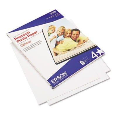 Epson S042183 Premium Photo Paper, 68 lbs., High-Gloss, 8-1/2 x 11, 25 Sheets/Pack