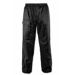 Pantalon 100% Impermeable Motard Moto Unisex Protection Pluie noir M