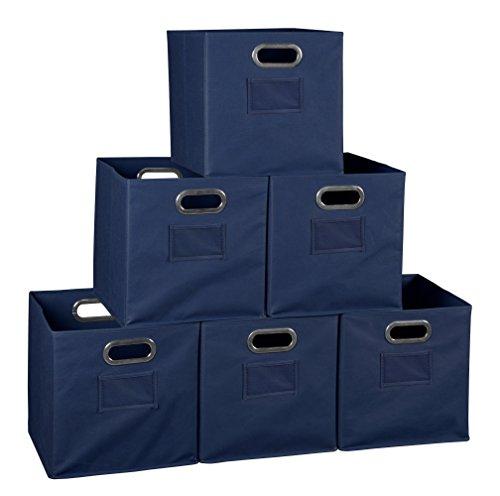 (Niche Set of 6 Cubo Foldable Fabric Bins- Blue )