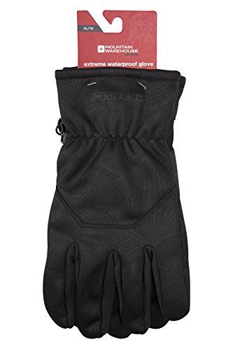Mountain Warehouse Extreme Waterproof Gloves - Windproof Ski Gloves Dark Grey Large