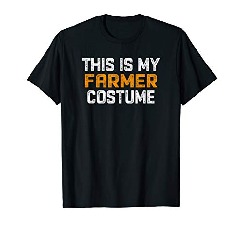 This Is My Farmer Costume Tee Halloween Simple Sarcastic ()
