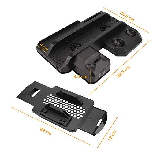 PS4 Stand PSVR Vertical Stand For PS4 Regular / Slim / Pro Console /PSVR Controller Charging Station,Cooling Fan Cooler,Storage For Sony PlayStation 4 Move Motion DualShock 4 Charger VR Headset Holder