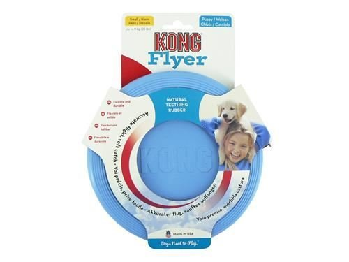 KONG Puppy Flyer Dog Play Toy, Small x 4 pack