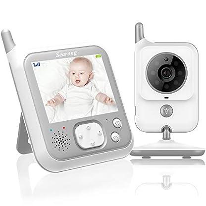 EYSAFT Babyphone mit Kamera Video Baby Monitor 3.2 Zoll Babyfon mit Talk Back und Temperaturüberwachung,Nachtsichtkamera,Schlaflieder,Nachtsicht, Intercom-Funktion VOX 1