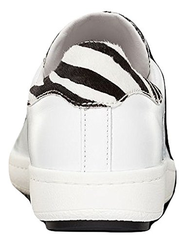 Baskets Blanc Nero MONCLER Bianco Femme pour RF11nUWT