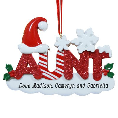Personalized Candy Cane Ornament (GiftsForYouNow Aunt Personalized Christmas Ornament, 2.75