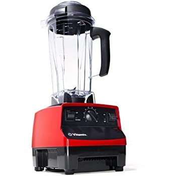 Vitamix 5200 RED - 7 YR WARRANTY Variable Speed Countertop Blender with 2 HP Motor and 64-Ounce Jar