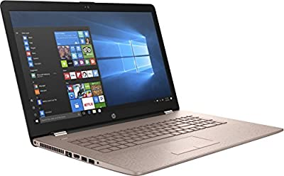 "HP 17-X000 17.3"" Notebook, HD+ Display, Intel N3710 Quad-Core, 4GB DDR3, 2TB SATA, Touchscreen, 802.11ac, Win10H - Champagne Rose (Certified Refurbished)"
