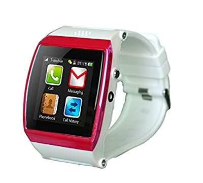 GSM & Bluetooth Smart Watch Wrist Wrap Watch Dialing Phone with Camera Touch Screen for IOS Iphone Android Smartphone Samsung Smartphone(White)