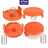 Bestdealing 4 Pack String Trimmer Replacement Spool Cap and Spring Cover Weed Eater Spool Bump Cover and Spring For Black Decker RC-100-P Weed Eater Cover Weed Wacker Repair Part For Black + Decker AFS Trimmer NST2118 385022-03 GH600 NST2018 NST2118 LST136