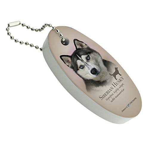 Graphics and More Siberian Husky Dog Breed Floating Foam Keychain Fishing Boat Buoy Key Float (Best Fishing Dog Breed)