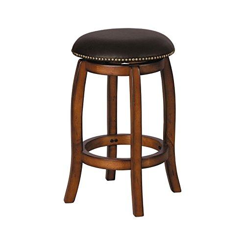 ACME 07249 Chelosea Swivel Bar Stool (Brass Oak Stool Bar)