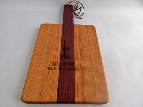 Handcrafted Wood Cutting Board - Edge Grain -Cherry & Purpleheart. Great gift for him or her, Chefs or cooks! Paddle board