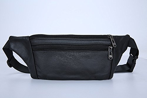 Lu Cow Genuine Leather Men Waist Pack Fanny Pack Bum Bag Man Pouch Travel Cash Card Pochete Bolso Cintura Homme Borsa MBA20 (Hurley Canvas Backpack)