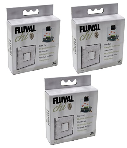 Fluval (3 Pack) Chi I/II Filter Pads, 3 Pads each by Fluval