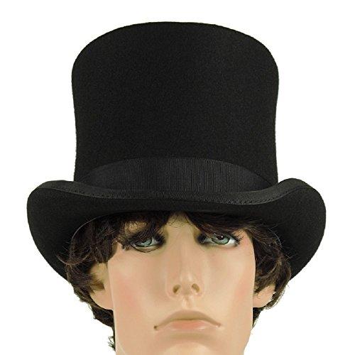 Victorian Wool MAD Hatter Top Hat (Medium 22.75 in/58 ()