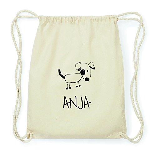 JOllipets ANJA Hipster Turnbeutel Tasche Rucksack aus Baumwolle Design: Hund