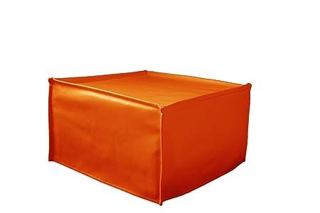 Ponti Divani Puff Cama Plegable, Cama otomana, colchón con Espuma de Memoria Incluido! Tapicería de Tela. Producto Made IN Italy!!!: Amazon.es: Hogar