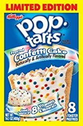 Kellogg\'s Pop-Tarts Frosted Confetti Cake, 8 Count (Pack of 3)
