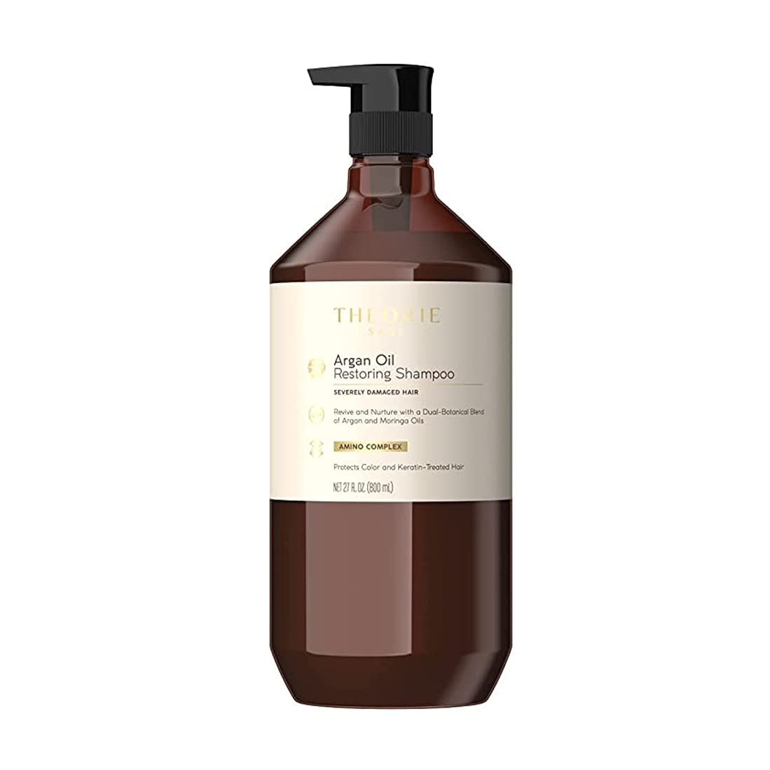 Amazon.com : THEORIE Argan Oil Restoring Shampoo- Rejuvenate & Moisturize -  For All Hair Types - Sulfate Free - Safe for Color & Keratin Treated Hair,  800mL - Label Design May Vary : Beauty