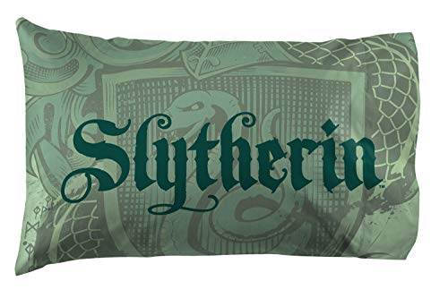Jay Franco Harry Potter House of Slytherin Kids Super Soft Double-Sided 1 Pack Pillowcase (Official Harry Potter Product)