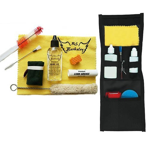 Band Camp Buddy for Wood Clarinet - Essential Travel Cleaning Care & Maintenance Pack for Wood Clarinet Players by RS Berkeley