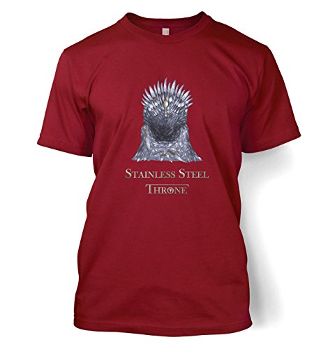 Stainless Steel Throne Mens T-shirt - Cardinal Red X-Large (46/48