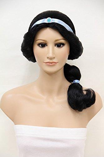 [Wigs2you.com Disney Movies Princess Aladdin Jasmine Cosplay Wig Party Costume C-033 C-Black M Size] (Black Jasmine Wig)