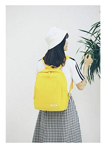 A Borsa Di A Luce Zaino Ragazze Campus Yellow Capacità Messenger Borsa Popolare Solido Bag Tracolla Colore Grande FLHT Del Borsa Tracolla TxwU84