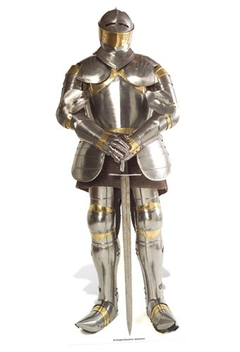 SC141 Knight In Armour Cardboard Cutout Standup -