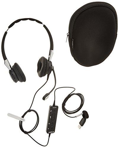 Jabra 2400 II USB Duo CC MS Wired Headset - Black