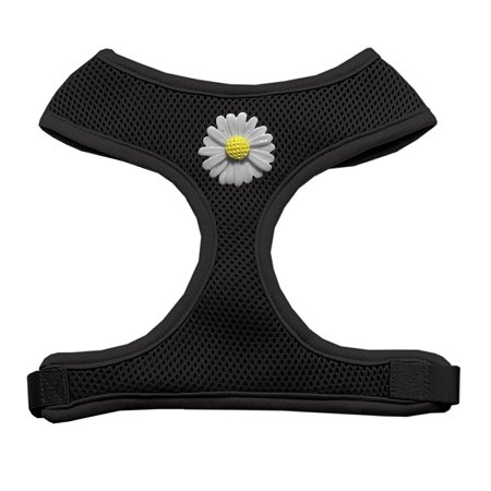 Mirage Pet Products 73-23 MDBK White Daisies Chipper Black Harness, Medium (23 Chipper)