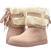 G by GUESS Women's Audy Faux-Shearling Suede Tie Boots