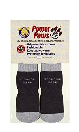 (Woodrow Wear Power Paws Advanced Greyhound Large Black/Grey)